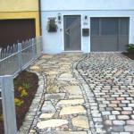 Hofeinfahrt - gebrauchtes Granitpflaster