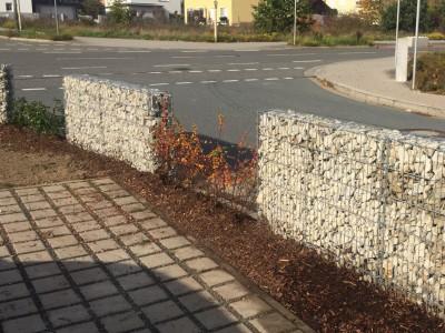 Gabionen Mauer Zaun